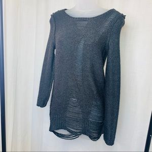 Sparkle & Fade Sweaters - Urban Outfitters Sparkle & Fade Distressed Sweater